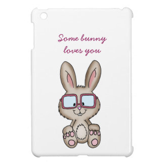 Some bunny loves you- Cute Design with bunny iPad Mini Covers