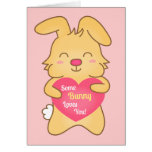 Some bunny loves you, cute humor card