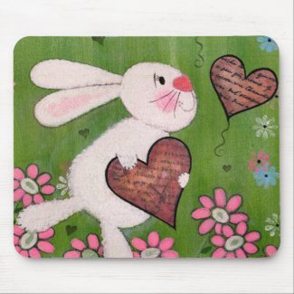 Some Bunny Loves You - Delivery Rabbit Mousepad