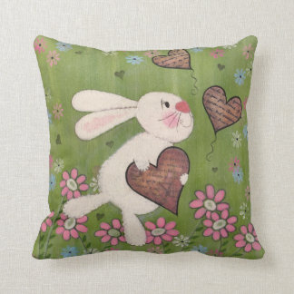 Some Bunny Loves You - Easter Rabbit Kids Art Pillow