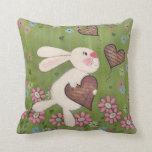 Some Bunny Loves You - Easter Rabbit Kids Art Throw Pillows
