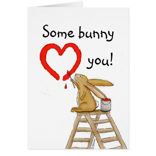 some bunny loves you greeting card zazzle. Black Bedroom Furniture Sets. Home Design Ideas