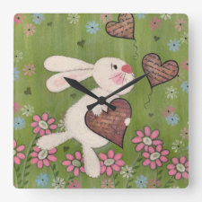 Some Bunny Loves You - Kids Wall Clock