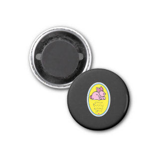 some bunny loves you 1 inch round magnet