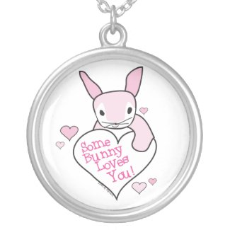 Some Bunny Loves You Necklace necklace