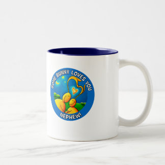 Some bunny loves you NEPHEW Two-Tone Coffee Mug