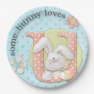 Some Bunny Loves YOU Paper Plate