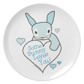 Some Bunny Loves You Party Plate