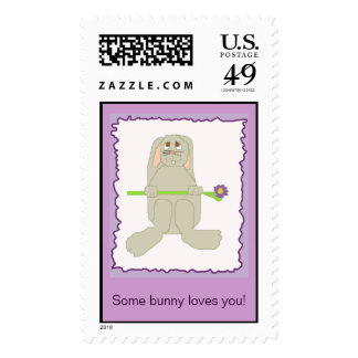 Some bunny loves you! postage stamp