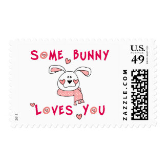 Some Bunny Loves You Postage Stamp