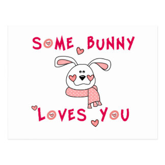 Some Bunny Loves You Postcard