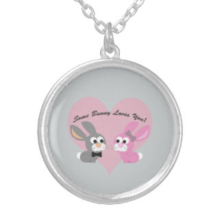 Some bunny Loves You! Silver Plated Necklace