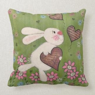 Some Bunny Loves You- Valentine's Rabbit Kids Art