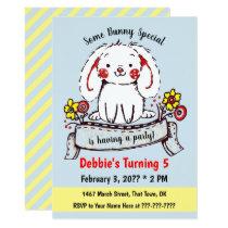 Some Bunny Simple Drawing Birthday Invitation