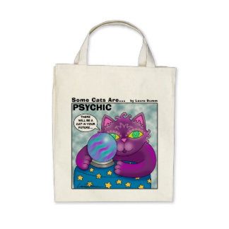 Some Cats Are Psychic Tote Bags