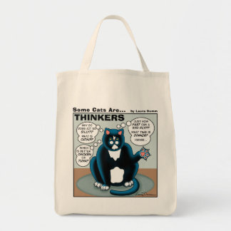 Some Cats Are Thinkers Tote Canvas Bag