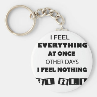 some day i fell everything at once other day, i keychain