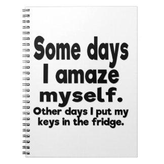 Some days I amaze myself. Notebook