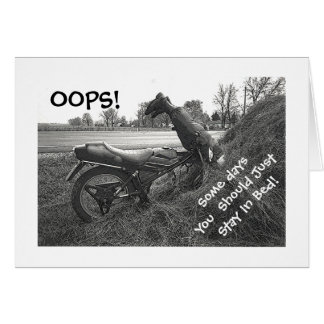 SOME DAYS YOU SHOULD STAY IN BED/HUMOR/FAUX MOTORB CARD