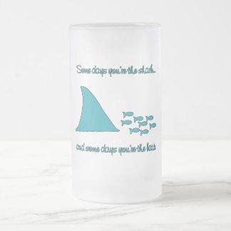 Some Days You're the Shark T-shirt Glass Beer Mug