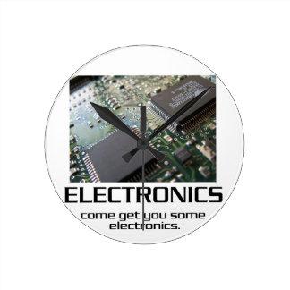 Some Electronics. Round Clock