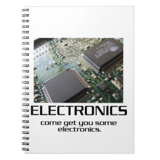 Some Electronics. Spiral Notebook