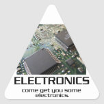Some Electronics. Triangle Stickers