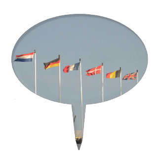 Some European Flag Gifts Cake Topper