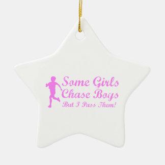 Some Girls Chase Boys I Pass Them Girl Jogger Ceramic Ornament