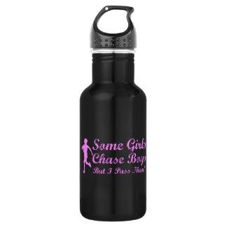 Some Girls Chase Boys I Pass Them Girl Jogger 18oz Water Bottle