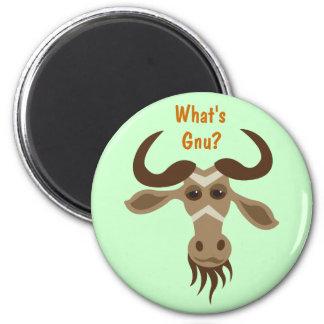 Some Gnu Stuff_Gary Gnu_What's Gnu? Fridge Magnet
