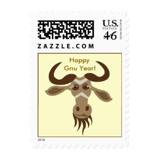 Some Gnu Stuff_Gwendolyn Gnu_Happy Gnu Year! stamp