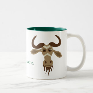 Some Gnu Stuff_It's genetic! (girls) Two-Tone Coffee Mug