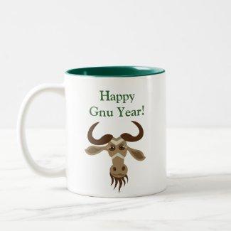 Some Gnu Stuff_Merry Kiss Moose_Happy Gnu Year! mug