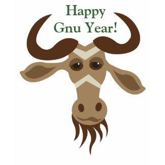Some Gnu Stuff_Merry Kiss Moose_Happy Gnu Year! shirt