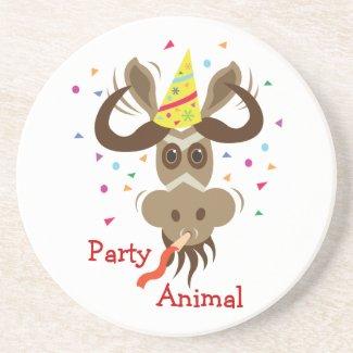Some Gnu Stuff_Party Animal zazzle_coaster