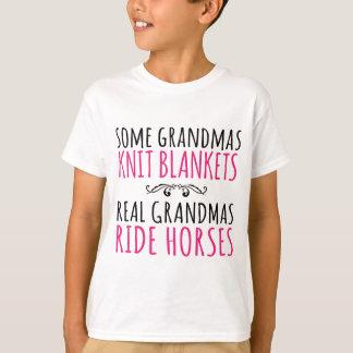 Some Grandmas Knit, Real Grandmas Ride Horses T-Shirt