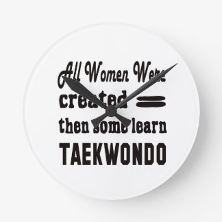 Some learn Taekwondo. Round Wallclocks