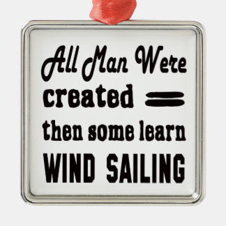 Some learn Wind Sailing. Metal Ornament