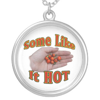 Some Like It Hot Cascabel Pepper Hand Pile Silver Plated Necklace