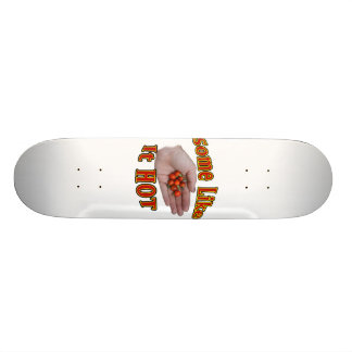 Some Like It Hot Cascabel Pepper Hand Pile Skateboard Deck