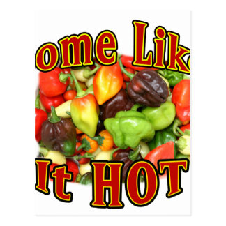 Some Like It Hot Mixed Hot Pepper Pile Picture Postcard