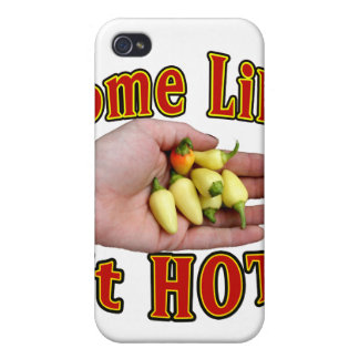 Some Like It Hot White Habanero Hand Pile Cases For iPhone 4