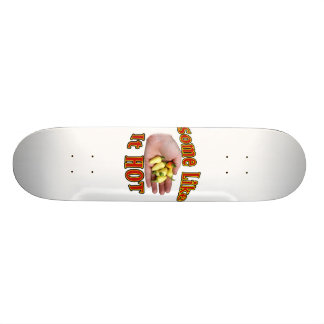 Some Like It Hot White Habanero Hand Pile Skateboard