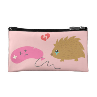 Some Love is not meant to be, funny hedgehog Makeup Bags