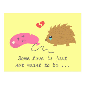 Some Love is not meant to be, funny hedgehog Postcard