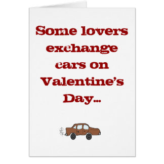 Some lovers exchange cars on Valentine's... Card
