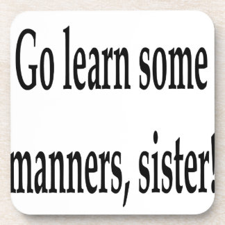 Some Manners Beverage Coasters