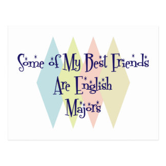 Some of My Best Friends Are English Majors Postcard