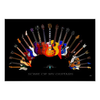 Some of My Guitars ~ SolidSpaceStudio since 1984 Poster